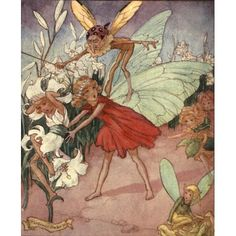 Secrets of the Flowers 1900 A wicked fairy knocked off her head Canvas Art - Florence Mary Anderson (24 x 36)