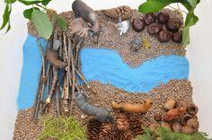 Creative Projects for Kids: Beaver Dam Sensory Bin