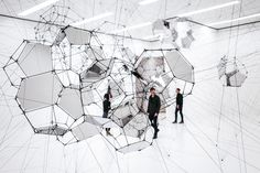 Stillness in Motion – Cloud Cities by Tomás Saraceno #tomassaraceno