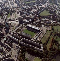 :Aerial view of Newcastle United F. James Park Newcastle upon Tyne Soccer Stadium, Football Stadiums, Blaydon Races, Civil Engineering Projects, Newcastle United Football, Newcastle England, Bristol Rovers, St James' Park, Saint James