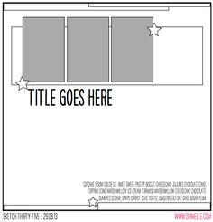scrapbook page sketch @ shimelle.com