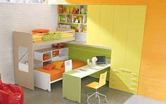 Green Yellow Bedroom Design