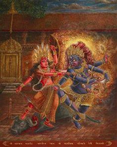 Kumari/Durga and Bhaerava