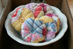 what to do with worn, weathered, but loved heirloom quilts... pin cushions, and more!