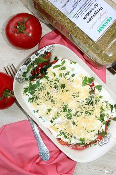 Pomidory w sosie czosnkowym z pietruszką | Słodkie okruszki Camembert Cheese, Dairy, Food, Essen, Meals, Yemek, Eten