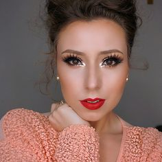 """25 Spring Makeup Looks and ideas 2015 are all here now! If you want to catch up with latest and exclusive """"Spring Makeup Looks then check out these cur. Glam Makeup, Kiss Makeup, Flawless Makeup, Gorgeous Makeup, Love Makeup, Beauty Makeup, Makeup Looks, Hair Makeup, Hair Beauty"""
