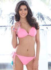 Neon Pink Liquid Gel Bikini Set - Pink