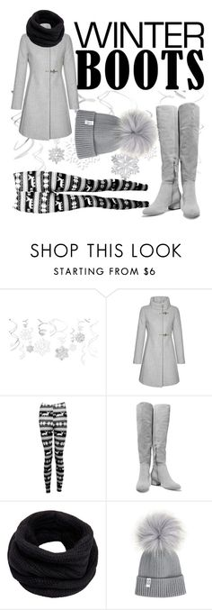 """Winter boots"" by barca-skopova ❤ liked on Polyvore featuring FAY, Boohoo, Halston Heritage and Helmut Lang"