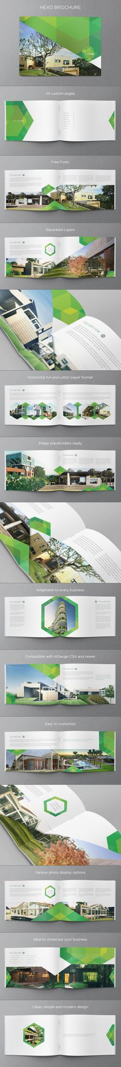 Ecologic Real Estate Hexo Brochure. Download here: http://graphicriver.net/item/real-estate-ecologic-brochure/5879542?ref=abradesign #design #brochure