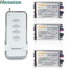 Y-F211C1N3 Wireless 3 Way 315mhz  220V Wireless Remote Control Light Switches Learning Code With 3 Metal Receivers