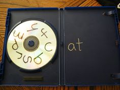 Reuse old DVD and CD cases by making this word family activity.  Turn the CD to get a new beginning letter and read the new word.  Write the words as a center activity and read to a partner.