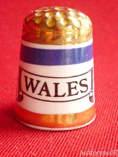 Wales -  Gold Gilded Collectors Thimble