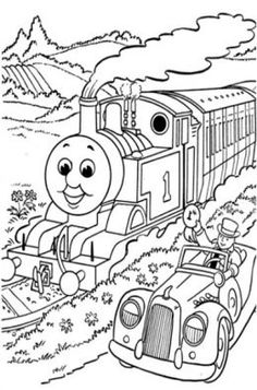 Thomas Tank Engine Train Kids Colouring Pictures to Print-and-Colour
