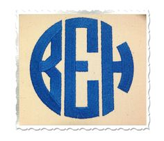 Circle 3 Letter Monogram Machine Embroidery Font Alphabet. This one is a must