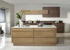 Dark kitchen cabinets white quartz countertop with modern subway