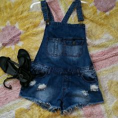 Overall Shorts Summer's almost here, right? Welcome it with these over all shorts from Machine. Never worn. Perfect condition. 100% cotton. NWT Jeans Overalls