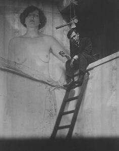 """""""Tzara Under The Axe"""" Man Ray 1921"""