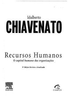 CHIAVENATO, Idalberto - Recursos Humanos O Capital Humano Das Organizações
