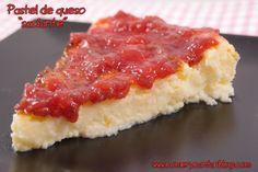 """Comer y Cantar: Pastel de queso """"saciante"""" (para entulinea de Weight Watchers)"""