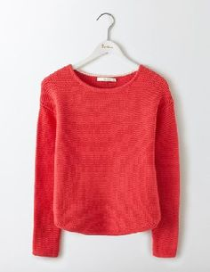#Boden Sera Boat Neck Jumper Strawberry Sundae Women #Complete your off-duty look with this chunky, goes-with-anything cotton jumper. The textured stitch gives it a laid-back feel thats perfect for countryside rambles. A subtly curved hem and wider neckline bring a touch of feminine sophistication, so it can take you all the way to dinner.
