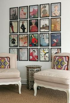 7 Easy And Affordable Ways To Stunning Wall Decor - Framed magazine covers