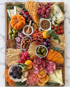 Find the ingredients featured on this board below! Cheese Humboldt Fog Stilton Camembert Manchego Mimolette Meat Salame Secchi Calabrese (Salami) Varzi more. Charcuterie Recipes, Charcuterie Platter, Charcuterie And Cheese Board, Cheese Boards, Charcuterie Picnic, Cheese Board Display, Charcuterie Display, Crudite Platter, Party Food Platters