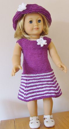 Ravelry: AMERICAN GIRL DOLL CANDY STRIPE & PARTY DELIGHT SETS pattern by Jacqueline Gibb