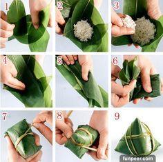 1分钟学会所有粽子的包法,六种粽子做法!