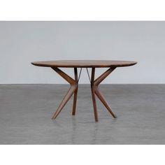 120 x 74 in eiken vanaf € Wood Rounds, Decoration, Artisan, Dining Table, Living Room, Interior Design, Tableware, Inspiration, Furniture