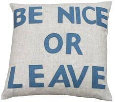 be-nice-cushion ... good for the studio? ahhahaha