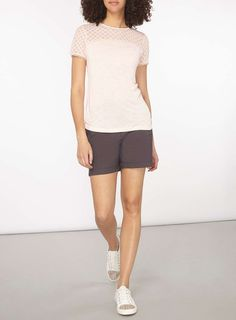 Womens **Tall Charcoal Shorts- Grey