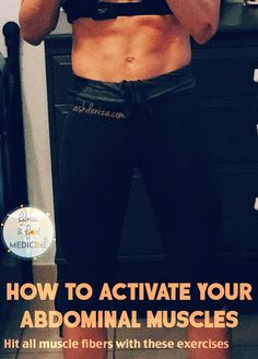 It is so hard to properly activate the abdominal muscles! These exercises helped…