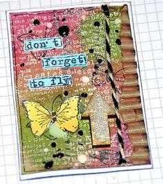 ATC card, Vol. 4 - Sanna Lippert - Canvas Corp Brands, The Crafter´s Workshop, Imagine Crafts, Finnabair stamps