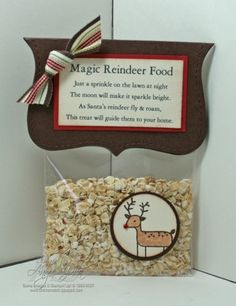 Reindeer food. We did this last year...LOVE IT!! Oatmeal with colored sugar so the birds can eat it ;)