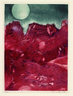 Artwork by Max Ernst, Vue de ma Fenêtre, Made of Colored aquatinting and copper engraving on piles