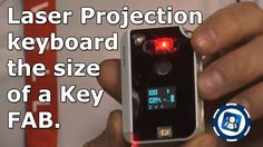 CTX Virtual Technologies Laser Projection Keyboard Size of a Key FAB – CES 2013   Special Media Feed on Geekazine