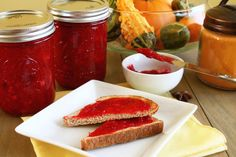 Spiced Cranberry Sauce Spread would be perfect on your morning toast or biscuits. Sweet with just the right amount of tartness!