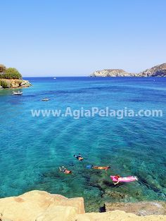 swimming at the sea in the crystal clear waters of Fylakes beach - Agia Pelagia #Fylakes #beach #agiapelagia #crete