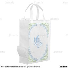 Shop Orange Butterfly Embellishment Reusable Grocery Bag created by Personalize it with photos & text or purchase as is! Orange Butterfly, Reusable Grocery Bags, Folded Up, Embellishments, Purses, Prints, Totes, Yellow, Brown
