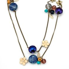 Rustic Multi-Charm 47 Inch Necklace