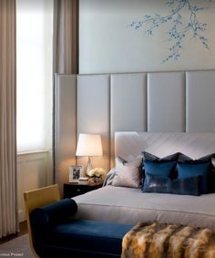 Great DIY headboard ideas can completely transform the look and feel of your bedroom! If you don't believe us, just check out the 79 creative designs, small or big, unique features for decor Master Bedroom Interior, Home Bedroom, Bedroom Decor, Master Bedrooms, Design Bedroom, Small Space Interior Design, Modern Interior, Luxurious Bedrooms, Luxury Bedrooms