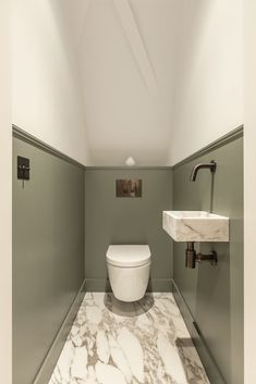 Small Downstairs Toilet, Small Toilet Room, Guest Toilet, Small Space Bathroom, Downstairs Bathroom, Toilet And Bathroom Design, Small Toilet Design, Bathroom Interior Design, Salon Interior Design