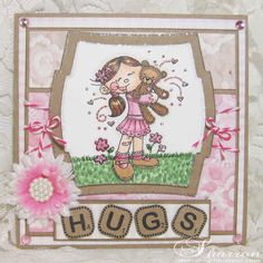 "Meljen's Designs ""Little Girl Bear Hugs"" card"