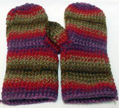 Crocheted Mittens By Spooner 1130 by TheSecurityBlanketCo on Etsy, $50.00