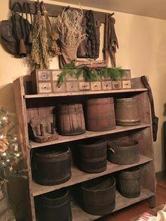 . Primitive Furniture, Primitive Antiques, Primitive Decor, Prim Decor, Country Decor, Primitive Christmas, Primitive Fall, Primitive Country, Kitchen Vignettes