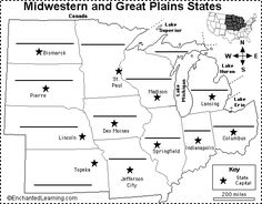Can Use This Map Not Only For Geography But To Get Kids Involved - Labeled map of us states