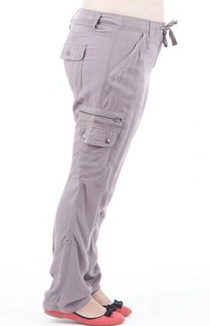 Stone Cargo Trousers via Plus Size Online Clothing Store. Click on the image to see more!