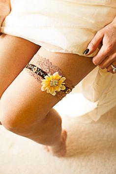 Sunflower garter Rustic wedding fall theme country garter. Velvet and lace garter. Custom orders welcome