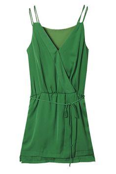 Surplice Front Dress OASAP.com
