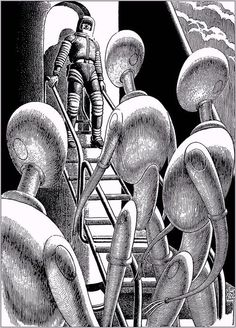 Original Comic Art titled Virgil Finlay - Worlds of If, June Gift Horse by A. Bertram Chandler, located in Doug's Virgil Finlay Comic Art Gallery Science Fiction Art, Illustrators, Comic Art, Illustration, Science Fiction Illustration, Fantastic Art, Art, Space Art, Vintage Illustration